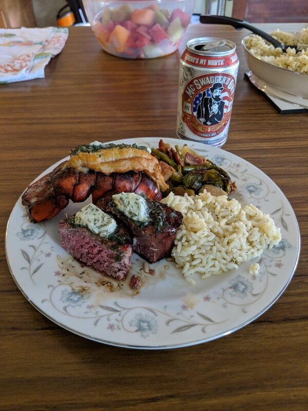 Bruce's Filet Mignon and Lobster