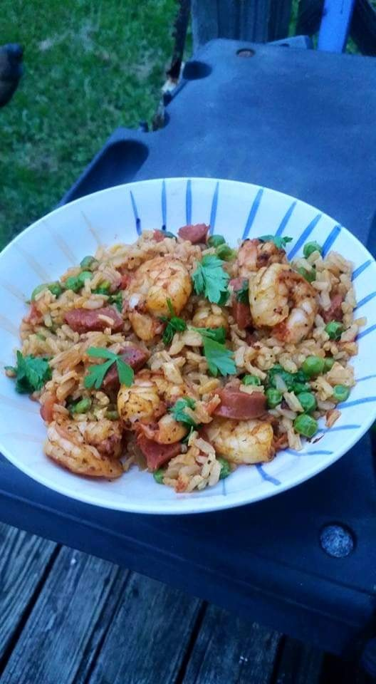 Frankie' Shrimp and Chorizo Rice